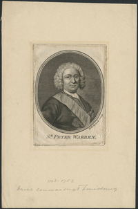 Original title:  Sir Peter Warren, 1703-1752, Naval Commander at Louisbourg.