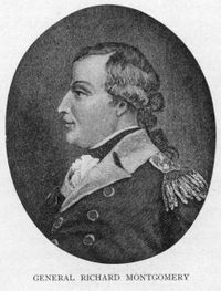 Original title:    Description English: Engraved portrait of Richard Montgomery, the Continental Army general killed at the 1775 Battle of Quebec. Date Published 1909 Source Canada, the empire of the North by Agnes Christina Laut, p. 301: http://books.google.com/books?id=ooQpAAAAYAAJ&dq=laut%20canada%20empire&pg=PA301#v=onepage&q=montgomery&f=false Author Engraving based on a painting by Alonzo Chappel