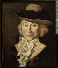 Original title:  Painting Portrait of Charles Jean-Baptiste Chaboillez, (1736-1808) Donald Hill About 1922, 20th century Oil on canvas 30.7 x 25.4 cm Gift of Mr. David Ross McCord M1588 © McCord Museum Keywords:  male (26812) , Painting (2229) , painting (2226) , portrait (53878)