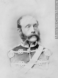 Original title:  Photograph Lieut. Col. Maunsell, Montreal, QC, 1868 William Notman (1826-1891) 1868, 19th century Silver salts on paper mounted on paper - Albumen process 8.5 x 5.6 cm Purchase from Associated Screen News Ltd. I-33625.1 © McCord Museum Keywords:  male (26812) , Photograph (77678) , portrait (53878)