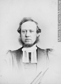 Original title:  Photograph Rev. Mr. Snodgrass, Montreal, QC, 1864 William Notman (1826-1891) 1864, 19th century Silver salts on paper mounted on paper - Albumen process 8.5 x 5.6 cm Purchase from Associated Screen News Ltd. I-10761.1 © McCord Museum Keywords:  male (26812) , Photograph (77678) , portrait (53878)