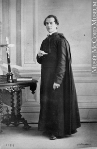 Original title:  Photograph Rev. H. Verreau, Montreal, QC, 1862 William Notman (1826-1891) 1862, 19th century Silver salts on paper mounted on paper - Albumen process 8.5 x 5.6 cm Purchase from Associated Screen News Ltd. I-5189.1 © McCord Museum Keywords:  male (26812) , Photograph (77678) , portrait (53878)
