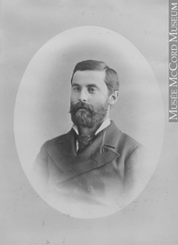 Original title:  Photograph D. Yuile, Montreal, QC, 1880 Notman & Sandham 1880, 19th century Silver salts on paper mounted on paper - Albumen process 15 x 10 cm Purchase from Associated Screen News Ltd. II-55968.1 © McCord Museum Keywords:  male (26812) , Photograph (77678) , portrait (53878)