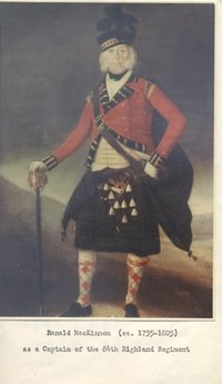 Original title:    Description English: Ranald MacKinnon, a Captain in the 84th Highland Regiment Date Source Own work Author Hantsheroes