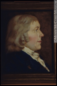 Original title:  Painting Portrait of Isaac Todd, (about 1742-1819) Donald Hill About 1922, 20th century 30.2 x 25.5 cm Gift of Mr. David Ross McCord M1595 © McCord Museum Keywords:  male (26812) , Painting (2229) , painting (2226) , portrait (53878)