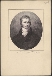 Original title:  Sir Alexander McKenzie.