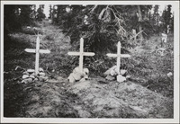 Original title:  Graves of John Hornby, Edgar Vernon Christian and Harold Adlard.
