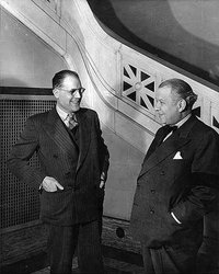 Original title:    Description English: Claude Champagne (left) and Wilfrid Pelletier at the opening of the Conservatoire de musique et d'art dramatique de Montréal. Français : Claude Champagne (à gauche) et Wilfrid Pelletier (à droite) lors de l'ouverture du Conservatoire de musique de Montréal en 1943 Date 1943(1943) Source This image is available from Library and Archives Canada This tag does not indicate the copyright status of the attached work. A normal copyright tag is still required. See Commons:Licensing for more information. Library and Archives Canada does not allow free use of its copyrighted works. See Category:Images from Library and Archives Canada. Author Unknown Permission (Reusing this file) Public domainPublic domainfalsefalse This work is in the public domain in the United States because it was first published outside the United States (and not published in the U.S. within 30 d