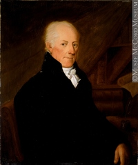 Titre original :  Painting Portrait of Thomas McCord. Louis Dulongpré 1816, 19th century Oil on canvas 77 x 65 cm Gift of Mr. David Ross McCord M8354 © McCord Museum Keywords:  Painting (2229) , painting (2226)