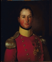 Original title:  Français : Portrait du Major Général Joseph Wanton Morrison (1783-1826), C.B., Col. 44e régiment. English: The british general Joseph Wanton Morrison (1783-1826) Date um 1821 Source http://www.musee-mccord.qc.ca/scripts/imagedownload.php?accessNumber=M401&Lang=2&imageID=149397&format=large Author Unknown