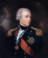 Titre original :    Description English: Admiral William Waldegrave, 1st Baron Radstock (1753-1825) oil on canvas 73.5 x 60.5 cm Date 19th century Source Sotheby's Author James Northcote