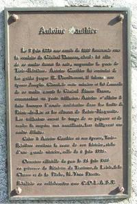 Titre original :    Description Français : Plaque commémorative à Antoine Gagnon de Trois-Rivières Date 2005(2005) Source Photography Author Daniel Robert Permission (Reusing this file) The copyright holder of this file, Daniel Robert, allows anyone to use it for any purpose, provided that the copyright holder is properly attributed. Redistribution, derivative work, commercial use, and all other use is permitted. Attribution: Daniel Robert Attribution