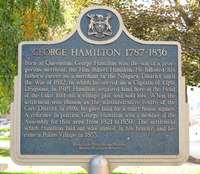 Titre original :    Description Plaque about the life of George Hamilton (eponymous founder of Hamilton, Ontario) in Hamilton, Ontario Date 24 October 2007 Source Own work Author User:Saforrest Permission (Reusing this file) GFDL/CC-by-SA 3.0  Camera location 43° 15′ 17.18″ N, 79° 52′ 3.96″ W This and other images at their locations on: Google Maps - Google Earth - OpenStreetMap (Info)43.254771668317986;-79.86776769161224