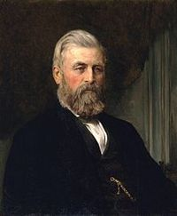 Original title:  A painting of Alexander Gibson in 1870