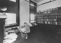 "Original title:  Photograph of J.C.F. Bown seated at desk in his law office. Annotated on back: ""J.C.F. Bown"".  Repository: Legal Archives Society of Alberta Reference code: LAS las-42-is-las-53-g-3"