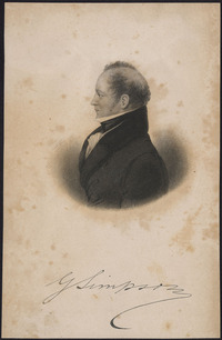 Titre original :  Sir George Simpson, Governor of the Hudson's Bay Company, 1857.