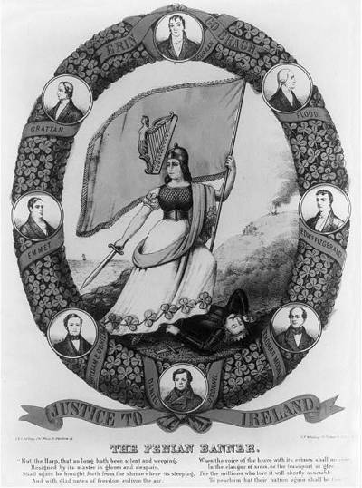 Titre original :  The Fenian banner - Library of Congress