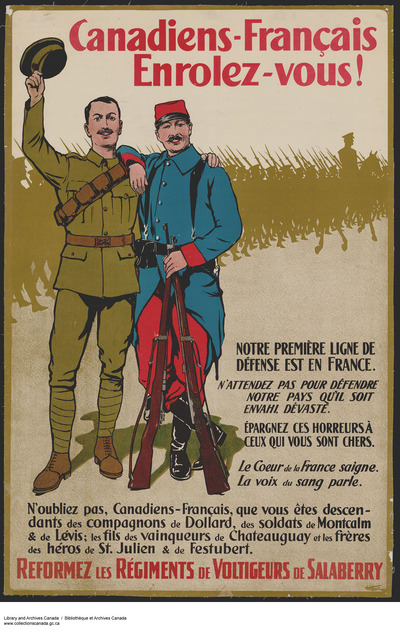 Original title:  Canadiens-Français, Enrolez-vous! :  recruitment campaign.