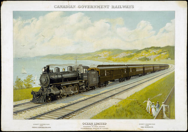 Titre original :  MIKAN 2894058 Canadian Government Railways: Ocean Limited between Montreal, St. John, Halifax Intercolonial Railway of Canada. 1904-1917. [86 KB, 760 X 535]