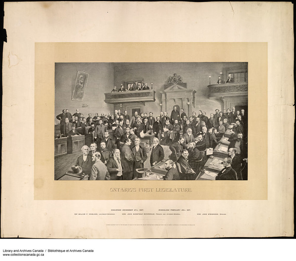 Original title:  MIKAN 3000531 Ontario's First Legislative Assembly. 1892 [178 KB, 1000 X 884]