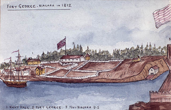 Titre original :  Fort George, Niagara, 1812.