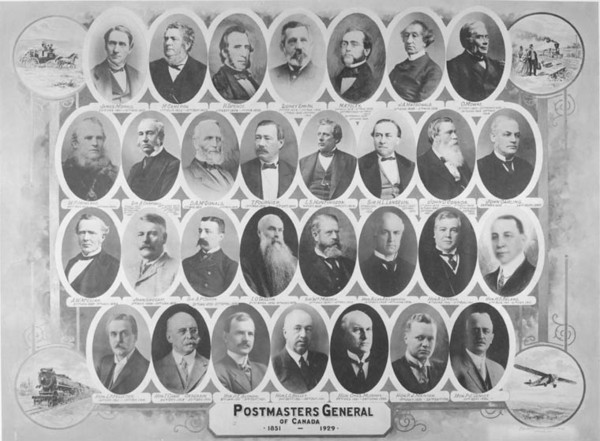 Original title:  Postmasters General of Canada.