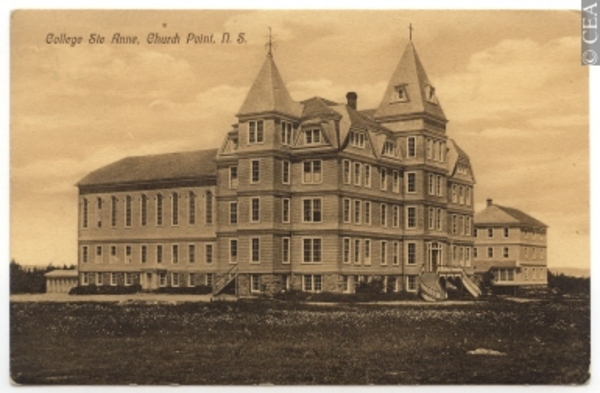 Original title:  CP592 | Ste. Anne College, Church Point, N.S. | Postcard | M. E. & Company