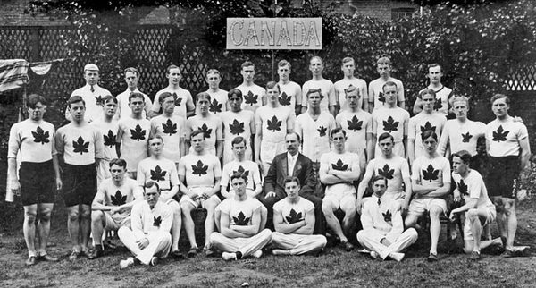 Original title:  Team Canada 1908 London