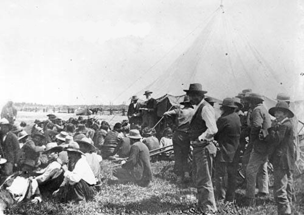 Original title:  File:David Laird explaining Treaty 8 Fort Vermilion 1899 - NA-949-34.jpg - Wikimedia Commons